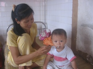 Feeding Children in Vietnam