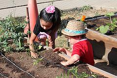 Valley Verde-Children in Garden
