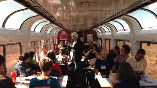 Workshops on the People's Climate Train